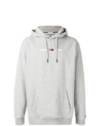 Sudadera con capucha estampada gris de Tommy Jeans
