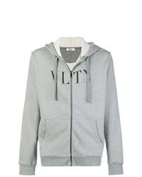 Sudadera con capucha estampada gris de Valentino