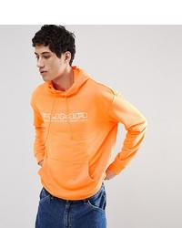 Sudadera con capucha estampada naranja de Puma