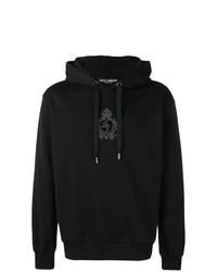 Sudadera con capucha estampada negra de Dolce & Gabbana