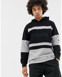 Sudadera con capucha estampada negra de K-Swiss