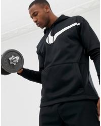 Sudadera con capucha estampada negra de Nike Training