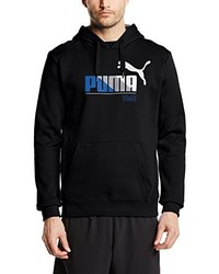 Sudadera con capucha estampada negra de Puma