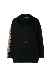 Sudadera con capucha estampada negra de Stella McCartney