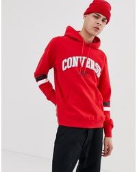 Sudadera con capucha estampada roja de Converse