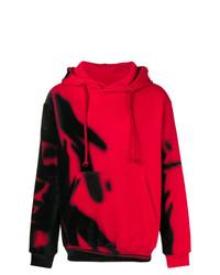 Sudadera con capucha estampada roja de Maison Margiela