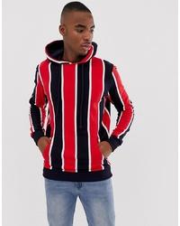 Sudadera con capucha estampada roja de Pull&Bear