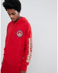 Sudadera con capucha estampada roja de Tommy Jeans