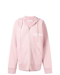 Sudadera con capucha estampada rosada de Golden Goose Deluxe Brand