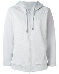 Sudadera con capucha gris de adidas by Stella McCartney