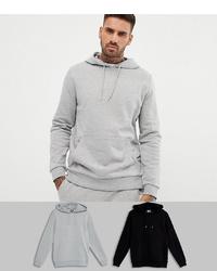 Sudadera con capucha gris de ASOS DESIGN