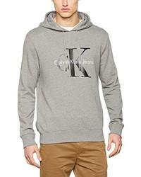 Sudadera con capucha gris de Calvin Klein Jeans