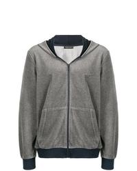 Sudadera con capucha gris de Emporio Armani