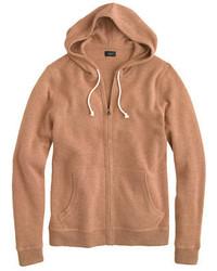 Sudadera con capucha marrón claro