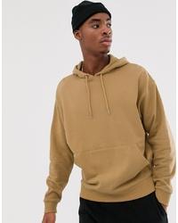 Sudadera con capucha marrón claro de ASOS DESIGN