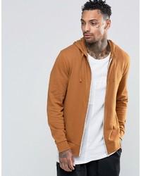 Sudadera con capucha marrón claro de Asos