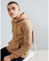 Sudadera con capucha marrón claro de Pull&Bear