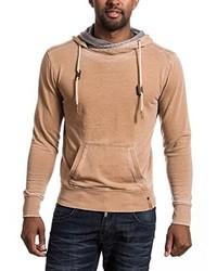 Sudadera con capucha marrón claro de Timezone