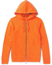 Sudadera con capucha naranja de Balmain
