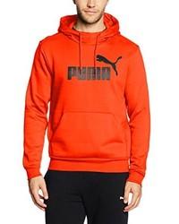 Sudadera con capucha naranja de Puma