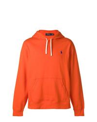 Sudadera con capucha naranja de Ralph Lauren