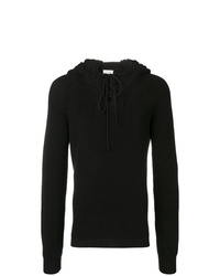Sudadera con capucha negra de Saint Laurent