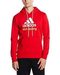 Sudadera con capucha roja de adidas