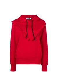 Sudadera con capucha roja de MSGM