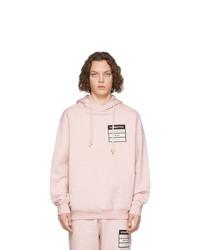 Sudadera con capucha rosada de Maison Margiela