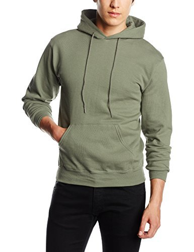 Sudadera con capucha verde oliva de Fruit of the Loom