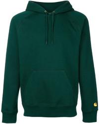 Sudadera con capucha verde oscuro