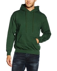 Sudadera con capucha verde oscuro de Fruit of the Loom