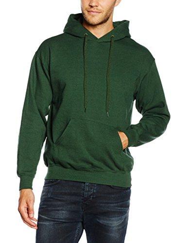 5e359494e2245 ... Sudadera con capucha verde oscuro de Fruit of the Loom ...