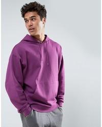 Sudadera con capucha violeta claro de Asos