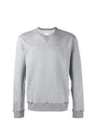 Sudadera con tachuelas gris de Valentino
