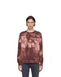 Sudadera efecto teñido anudado morado oscuro de Nudie Jeans