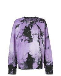 Sudadera efecto teñido anudado violeta claro de MM6 MAISON MARGIELA
