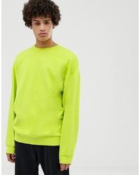 Sudadera en amarillo verdoso de ASOS DESIGN
