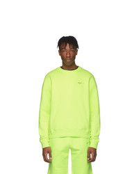 Sudadera en amarillo verdoso de Off-White