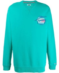 Sudadera en turquesa de Tommy Jeans