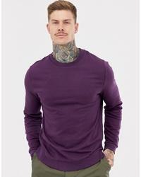Sudadera en violeta de ASOS DESIGN