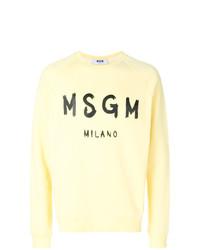 Sudadera estampada amarilla de MSGM