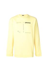 Sudadera estampada amarilla de Raf Simons