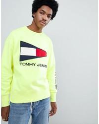 Sudadera estampada amarilla de Tommy Jeans
