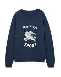 Sudadera estampada azul marino de Burberry