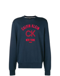 Sudadera estampada azul marino de Calvin Klein 205W39nyc
