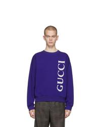 Sudadera estampada azul marino de Gucci