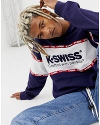 Sudadera estampada azul marino de K-Swiss