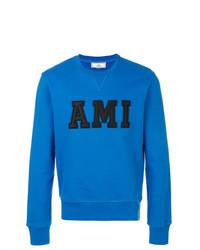 Sudadera estampada azul de AMI Alexandre Mattiussi
