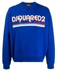 Sudadera estampada azul de DSQUARED2